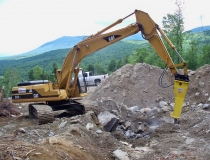 Excavator with Hammer