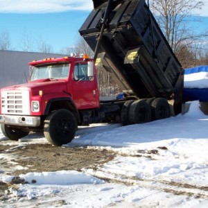 1985 S1900 International 12 yard Dump Truck. Three axle. 54,000 G.V.W.