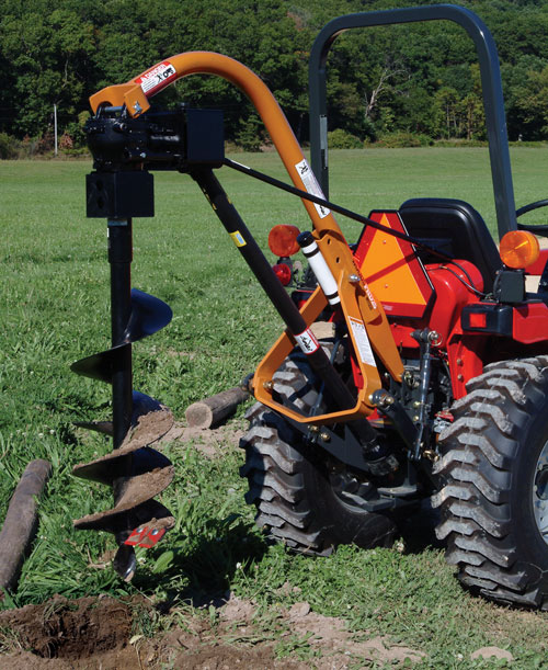 Pto Post Hole Auger W Tractor Eagle Rental Commercial