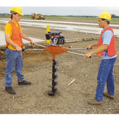 2 Man Powered Post Hole Auger