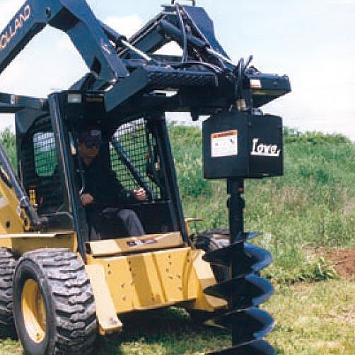 "Skid Steer w/ Auger & 9"" or 12"" Bits"