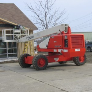 Tow-Behind Lift - 40' Electric - Eagle Rental - Commercial