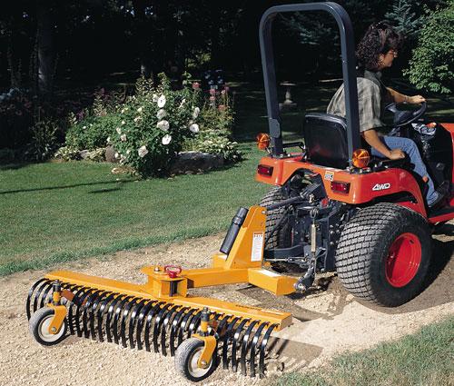 York Rake Attachment for Tractor - 7'