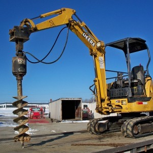 "Mini Excavator - 6,000 lb - w/ Auger & 9"" or 12"" Bits"