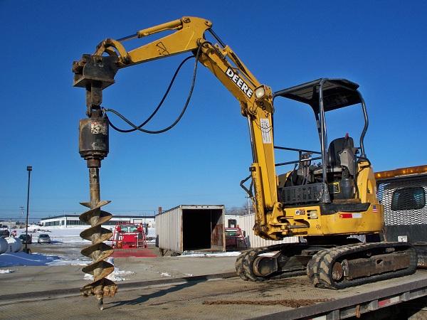 Mini Excavator 6 000 Lb W Auger Amp 9 Or 12 Bits