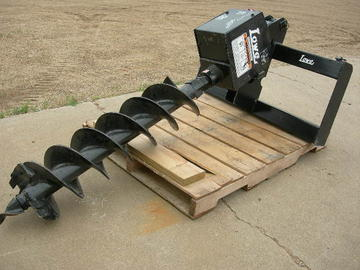 "Skid Steer Mounted 9"" or 12"" Bit Attachment"