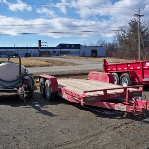 Two Axle Tilt Equipment Trailer