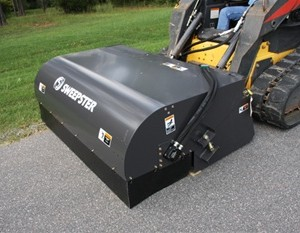 Skid Steer Sweeper Attachment - 6'