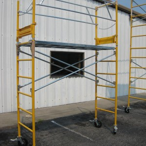 Speed Tower Safety Rail with Outriggers