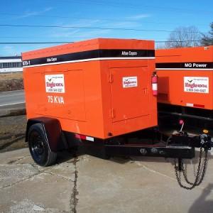 70-75 KVA Generator - Trailer Mounted - Diesel