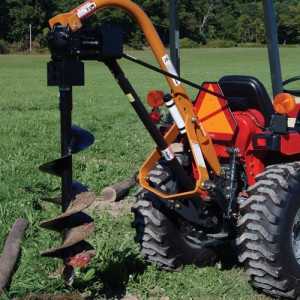 PTO Post Hole Auger w/ Tractor
